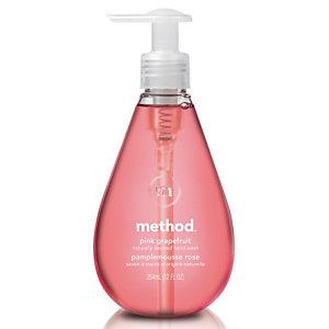 6 flessen handwascrème Ecover Roze pompelmoes, 350 ml