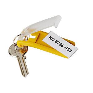 6 gele sleutelhangers