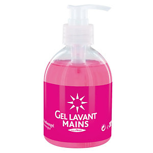 6 gels lavants mains 1er prix, flacon de 300 ml