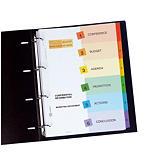 6 intercalaires personnalisables Ready Index Avery format A4 touches numériques carte 190 g