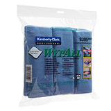 6 lavettes microfibres Wypall Kimberly-Clark bleu##6 blauwe microvezel vaatdoeken Wypall Kimberly-Clark