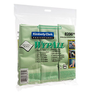 6 lavettes microfibres Wypall Kimberly-Clark vert