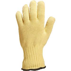 6 paires de gants anti-coupure et anti-chaleur 250°C en Kevlar Delta Plus, taille unique