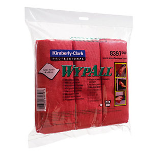 6 rode microvezel vaatdoeken Wypall Kimberly-Clark