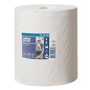 6 rollen handdoekpapier Tork Plus met centrale afrolling, 2 lagen
