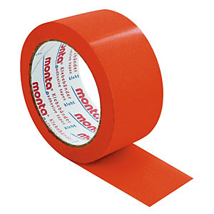 6 rollen rood PVC kleefband Monta 50 mm x 66 m