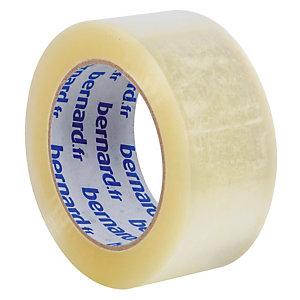 6 rollen verpakkingsplakband geruisloos PP Bernard, 48 mm x 100 m, transparant