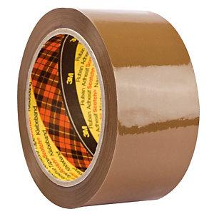 6 rubans adhésifs popypropylène Scotch 3M 309 havanve, 50 mm x 66 m