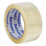 6 rubans adhésifs d'emballage PP silencieux Bernard, 48 mm x 66 m, transparent##6 rollen verpakkingsplakband geruisloos PP Bernard, 48 mm x 66 m, transparant