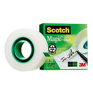 6 rubans adhésifs invisibles Scotch® Magic 19 mm x 33 m