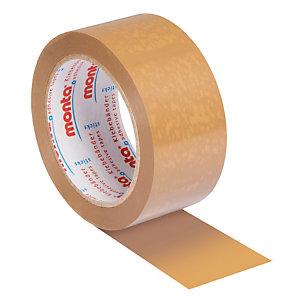 6 rubans adhésifs PVC Monta 283 havane 50 mm x 66 m