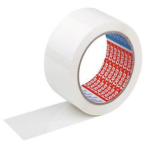 6 rubans adhésifs Tesa PVC blanc 50 mm x 66 m