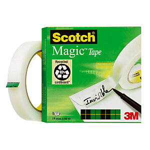 6 rubans Magic invisible Scotch® 19 mm x 66 m