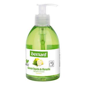 6 savons liquides de Marseille Bernard parfum citron menthe 300 ml