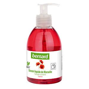 6 savons liquides de Marseille Bernard  parfum coquelicot 300 ml