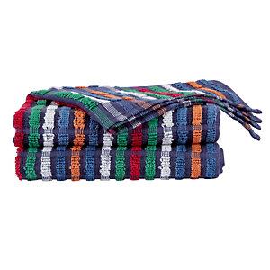 6 veelkleurige handdoeken in katoen