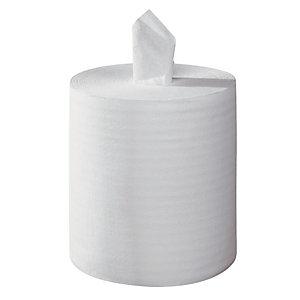 6 witte handdoekrollen Tork Reflex met centrale afrolling, 450 vellen
