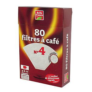 80 filtres à café n°4 + 1 sachet de détartrant