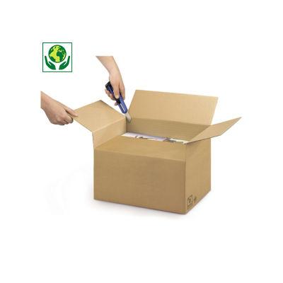 Caisse double cannelure Variabox format A3##A3 Kartonnen dozen met variabele vulhoogte Variabox, bruin dubbelgolfkarton