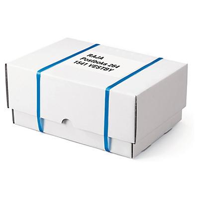 A3 - lådor - Vita, förstärkta teleskopiska lådor