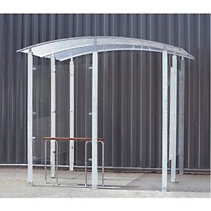 Abri fumeurs mural acier galvanisé 2 m²
