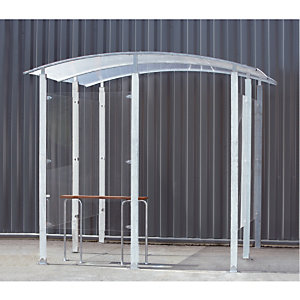 Abri fumeurs mural acier galvanisé 6 m²