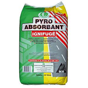 Absorbant granulés Pyro absorbant ignifugé en sac de 40 L