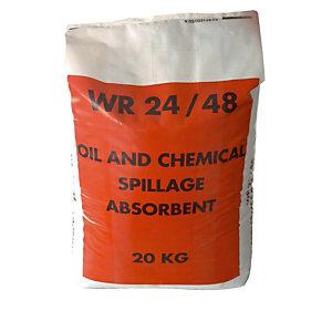 Absorbeer granulaat WR 24/48 in zakken van 36 L voor olie en chemische producten