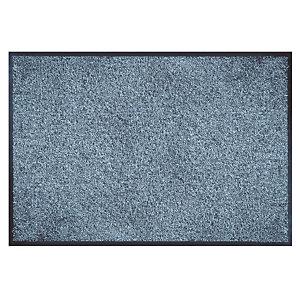 Absorberende onthaaltapijt microvezel 0,60 x 0,90 m chiné blauw