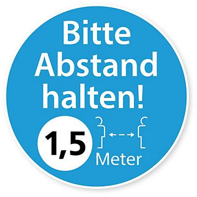 Autocollant distanciation sociale 1,5 m##Abstand halten Aufkleber 1,5 m