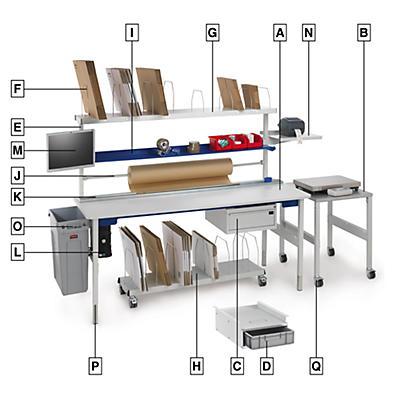 Accessoires du poste d'emballage modulable RAJA