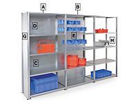 Accessoires pour rayonnage tôlé galvanisé AD'VANCE
