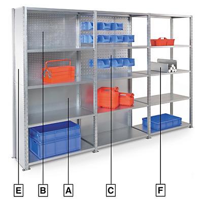 Accessoires pour le système de rayonnage multifonction AD' VANCE##Toebehoren multifunctioneel stellingsysteem AD' VANCE