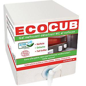 ACTION VERTE Gel nettoyant écologique détartrant surfaces et WC Parfum menthe - Ecocub de 10 litres