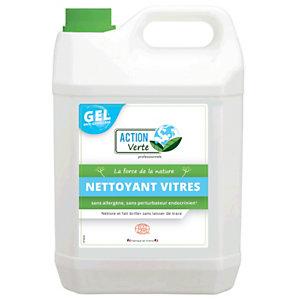 ACTION VERTE Nettoyant écologique vitres et surfaces en gel, bidon de 5L