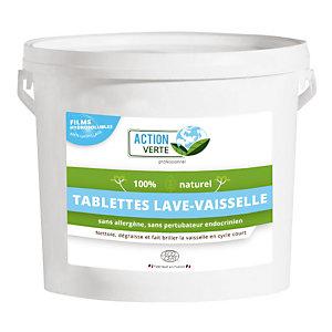 ACTION VERTE Tablettes de lavage écologiques lave-vaisselle cycle court Action Verte HACCP, 160 tablettes