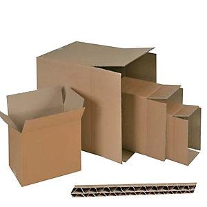 ADDA Scatola in cartone per imballo - onda doppia - color avana - 250x250x250 mm - Adda