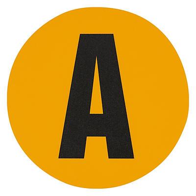 Adesivos com letras para sinalização do chão