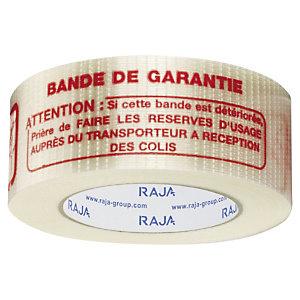"Adhésif armé chaîne et trame ""BANDE DE GARANTIE"" 140 microns RAJA"