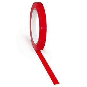 Adhésif rouge petite largeur 37 microns RAJA 12 mm x 66 m, lot de 24