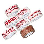 Adhésif économique polypropylène silencieux pour colis légers imprimé 28 microns RAJATAPE