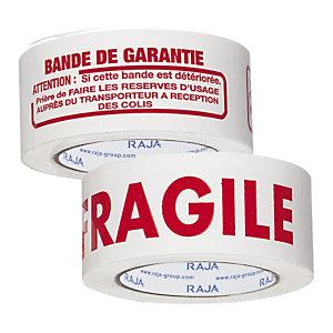 Adhésif économique polypropylène silencieux pour colis volumineux imprimé 32 microns RAJA