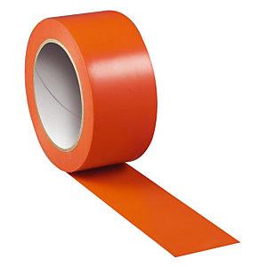 Adhésif PVC orange, protection réparation, le lot de 6 rouleaux