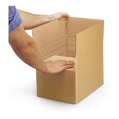 Adjustable single wall cardboard boxes