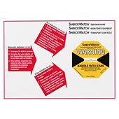 Advarselsetiket til angivelse af støddetektor