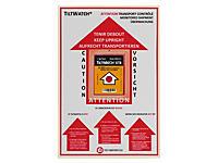 Advarselsetiket til Tiltwatch® vippeindikator