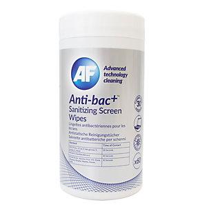 AF CLEANING Lingettes de nettoyage pour écrans antibactériennes et désinfectantes  - Boîte de 60