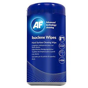 AF CLEANING Salviette Isoclene per la pulizia di superfici dure  in barattolo dispenser (confezione 100 pezzi)