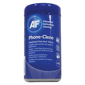 AF CLEANING Salviette Phone-Clene per la pulizia di posizioni condivise e telefoni in barattolo dispenser (confezione 100 pezzi)