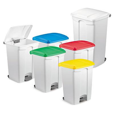 Affaldsspande med pedalåbning og stor kapacitet